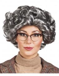 Naisten lyhyt harmaa peruukki