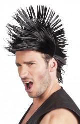 Miesten peruukki lyhyellä punk-tyylisellä kampauksella