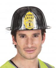 Musta palomiehen kypärä aikuiselle