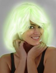 Vihreänä hohtava peruukki naiselle