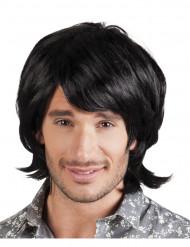 Iskelmä mies - Miesten musta peruukki