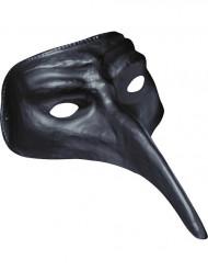Musta maski pitkällä nenällä aikuisille
