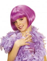 Kabareetähden violetti peruukki lapsille