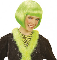 Tyttöjen vihreä, lyhyt kabareeperuukki