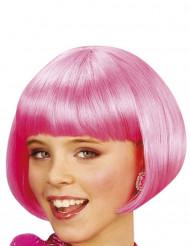Pinkki cabaret-peruukki lapsille