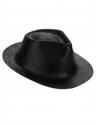 Aikuisten musta paljettikoristeltu hattu