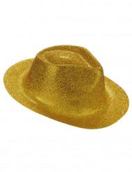 Kullanvärinen paljettikoristeltu hattu aikuisille
