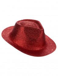 Aikuisten paljettikoristeltu punainen hattu