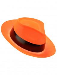 Pimeässä hohtava oranssi gangsterin hattu aikuisille