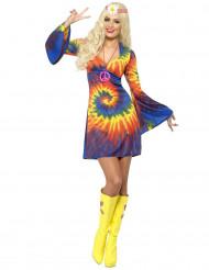 Värikäs hippiasu naiselle