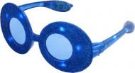 Glitterillä koristellut soikeat siniset lasit