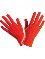 Lyhyet punaiset hanskat aikuiselle