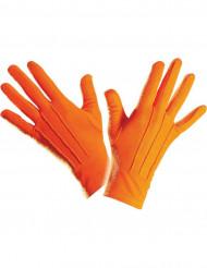 Lyhytvartiset oranssit käsineet aikuisille