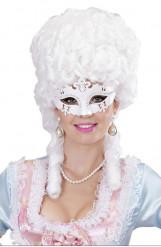Valkoinen venetsialainen naamio