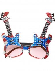 Kitaranmuotoiset rock- aurinkolasit aikuisille