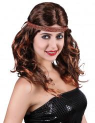 Intiaanin tai hipin hiukset - Peruukki aikuisille