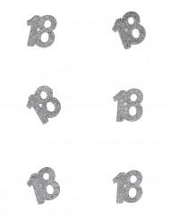 Hopeiset konfetit 18 v, 6 kpl