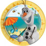 Pahvilautaset Olafin™ kuvalla 8 kpl
