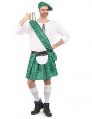 Vihreä skottilaisen naamiaisasu aikuiselle