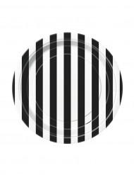 Pieni lautanen mustavalko raidallinen 18cm