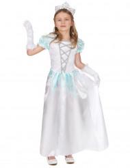Valkoinen prinsessamekko lapsille