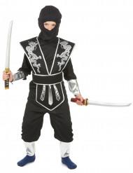 Hopeinen lohikäärme -ninja-asu lapsille