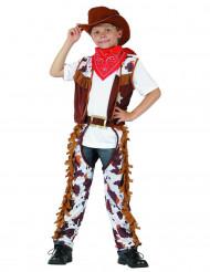 Cowboy-asu lapsille lehmäkuviolla