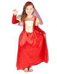 Punainen prinsessan mekko lapsille