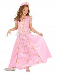 Mekko linnan juhliin - Vaaleanpunainen prinsessamekko lapsille