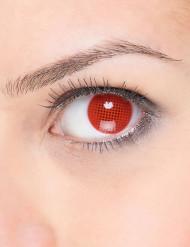Punaiset piilolinssit mustalla ruutukuviolla
