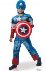 Kapteeni Amerikan™ topattu naamiaisasu lapselle - luksus