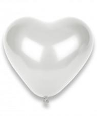 Valkoinen sydänilmapallo 100kpl