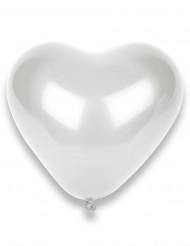 Valkoiset sydänilmapallot, 50 kpl