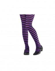 Mustaviolettiraidalliset sukkahousut lapsille