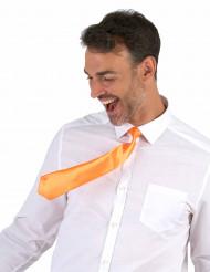 Kirkkaanoranssi kravatti aikuiselle