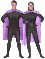 Aikuisten violetti supersankarisetti