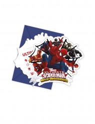 Spiderman™-kutsukortit ja kuoret, 6 kpl