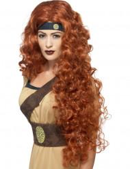 Soturikuningattaren peruukki punaruskeilla hiuksilla