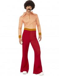 Miehen tyylikäs 70-luvun naamiaisasu