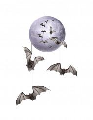 Kuu ja lepakot - Halloween koriste