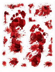 Itsekiinnittyvät tarrat verisillä painaumajäljillä 15 kpl - Halloween