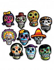 Día de los muertos -koristeet, 10 kpl
