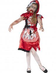 Punahilkkaisen zombien naamiaisasu lapselle halloweeniin