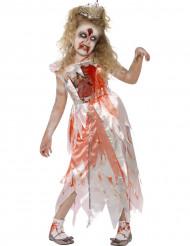 Zombieprinsessan naamiaisasu lapselle halloweeniin