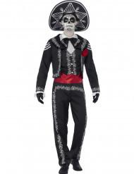 Meksikolainen luuranko Halloween-asu miehille