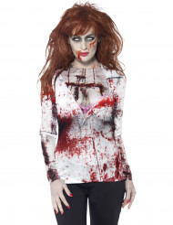 Naisten Halloween asu Zombi seksikkäässä t-paidassa