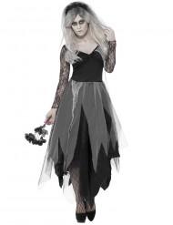 Naisten Halloween musta vampyyrimorsian naamiaispuku