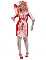Naisten Zombisairaanhoitaja Halloween asu