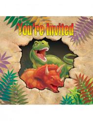 Dinosaurusaiheiset kutsukortit - 8 kpl