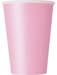 10 vaaleanpunaista pahvimukia 355 ml